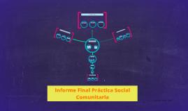 Informe Final Práctica Social Comunitaria