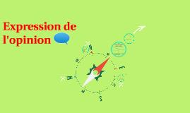 Copy of Expression de l'opinion