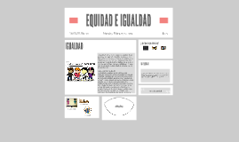EQUIDAD VS IGUALDAD