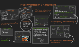 Module 8-Prison Organization & Management