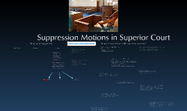 Suppression Motions in Superior Court