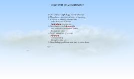 MORPHOSYNTAX AND SEMANTICS: BLOC TWO