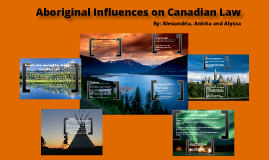 Copy of Aboriginal Influence on Canadian Law