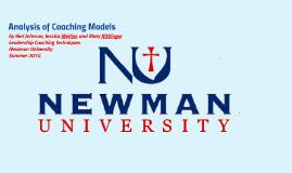 Analysis of Coaching Models