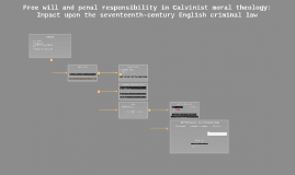 Free will and penal responsibility in Calvinist moral theolo
