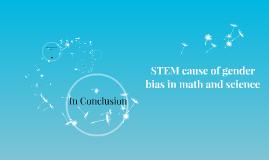 STEM cause of gender bias in science