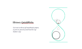 History QuickWrite