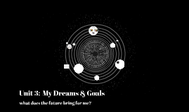 Unit 3:  My Dreams & Goals