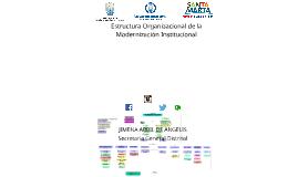 ESTRUCTURA ORGANIZACIONAL MODERNIZACIÓN INSTITUCIONAL