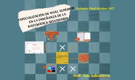ESPECIALIZACIÓN DE NIVEL SUPERIOR EN LA ENSEÑANZA DE LA MATE
