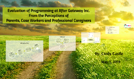 Evaluation of Programming at After Gateway Inc.  From the Perceptions of  Parents, Case Workers and Professional Caregivers