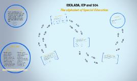 IDEA,ADA, and 504