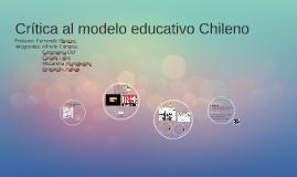 Crítica al modelo educativo Chileno