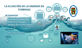 ECUACIÓN DE ENERGÍA EN TURBINAS