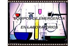 EQUIPOS DE EMERGENCIA EN LABORATORIOS