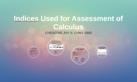 Indices Used for Assessment of Calculus