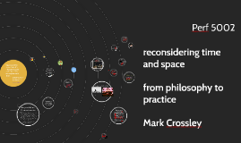 (re)considering space and time