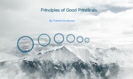 Principles of Good Principals