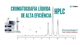 Cromatografia Líquida de Alta EficiênciaHPLC