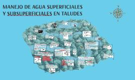 MANEJO DE AGUA SUPERFICIALES Y SUBSUPERFICIALES