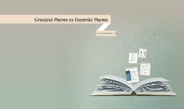 Greatest Poems vs Favorite Poems