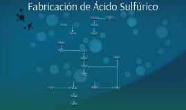 Fabricación de Ácido Sulfúrico