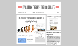 EVOLUTION THEORY- THE BIG DEBATE