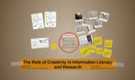 Role of Creativity in Info Lit and Research