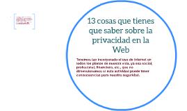 PRIVACIDAD DE LA WEB
