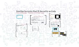 Devops Security Part II: Security as Code