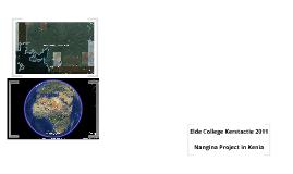 Elde College, Kerstactie: Nangina Project in Kenia