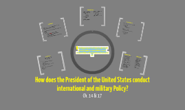 How does the President of the United States conduct international and military policy?