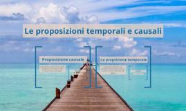 Le proposizioni temporali