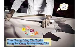 Thực trạng công tác tuyển dụng tại công ty may Hưng Yên