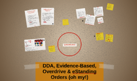 DDA, Evidence-Based, Overdrive & eStanding Orders (oh my)