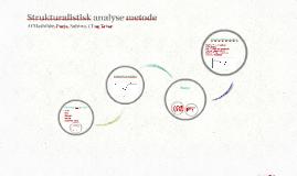 Strukturalistisk analyse metode
