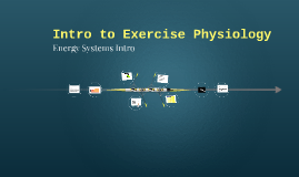 Intro to Exercise Physiology