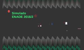 Simulado ENADE 2016/2