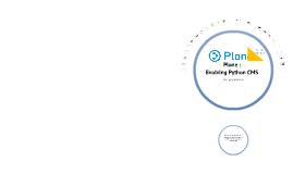 Plone: Evolving Python CMS