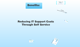 Reducing IT Support Costs Through Self Service