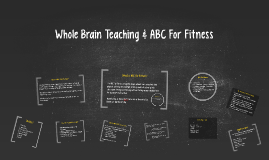 Copy of Whole Brain Teaching & ABC Fitness