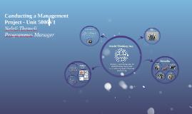 Conducting a Management Project - Unit 5005V1