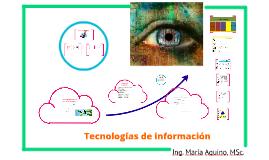 Copy of Tecnologías de información