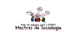 Primeiros sociólogos: Marx, Weber & Durkheim