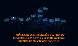 Análisis de articulación del Plan Nacional de Desarrollo 201