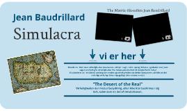 Jean Baudrillard : Simulacra