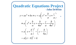 Quadratic Equations Project