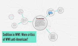 Copy of Sedition in WWI: Were critics of WWI anti-American?
