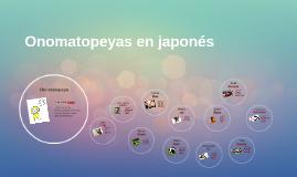 Onomatopeyas en Japón