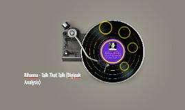 Rihanna - Talk That Talk (Digipak Analysis)